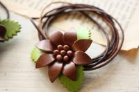leather flower hair band & pin _c0118809_15281537.jpg