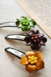 leather flower hair band & pin _c0118809_15285976.jpg