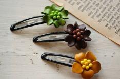 leather flower hair band & pin _c0118809_15293878.jpg