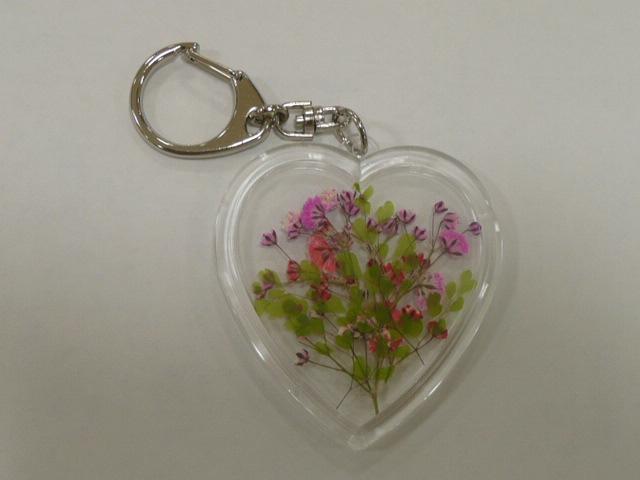 押し花で マイ・キーホルダーを作りました♪_f0099147_22473456.jpg