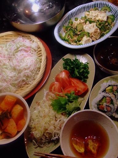 6月28日(土)昼 ツナ豆腐ゴーヤチャンプルー_b0127948_2219124.jpg