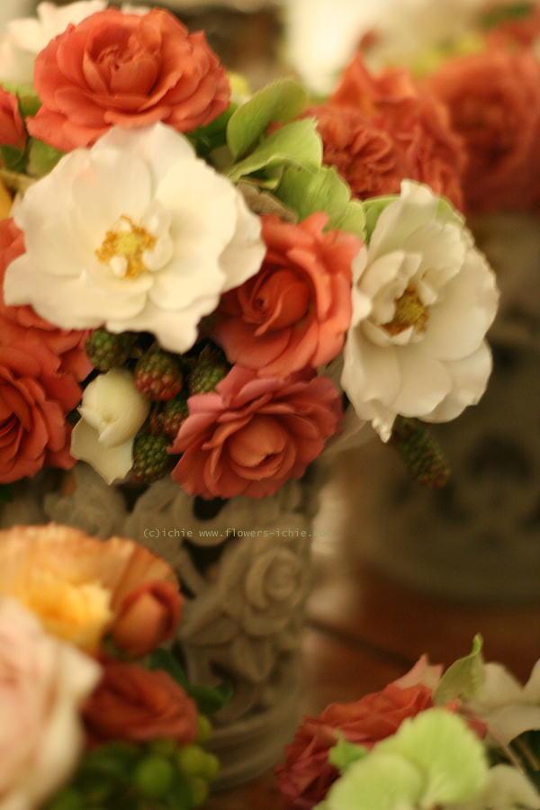 シェ松尾松濤レストラン様の装花 6月に 結婚式の花_a0042928_292117.jpg