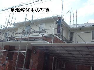 賃貸物件・塗装後の補修工事と足場解体_f0031037_20391062.jpg