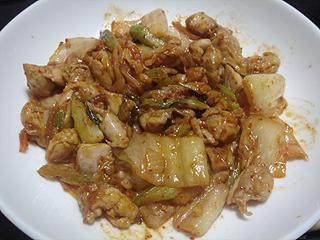 鶏肉とセロリのキムチ炒め_c0025217_1603633.jpg
