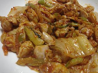 鶏肉とセロリのキムチ炒め_c0025217_1604539.jpg