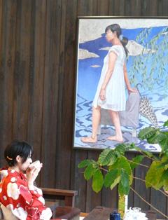光延由香利作品展レポート〜赤き浴衣に水面ゆれ_a0017350_223135.jpg