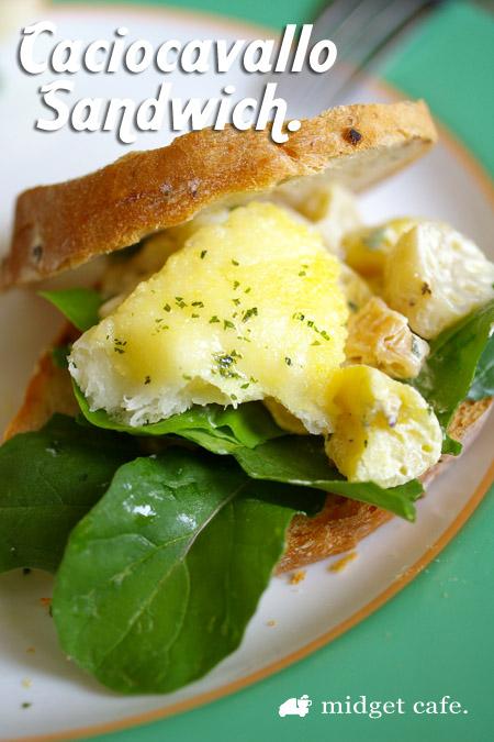 朝からカチョカバロでサンドイッチ【チーズをフライパンで焼く!】
