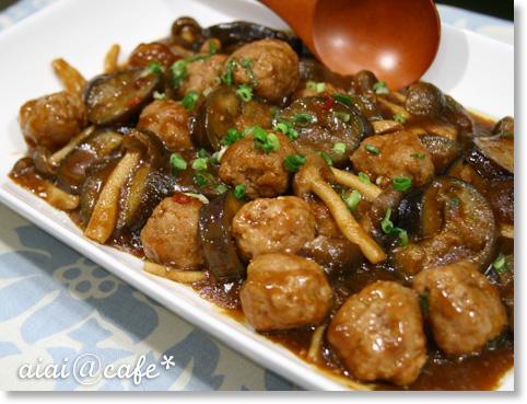 茄子と肉団子の麻婆風_a0056451_17293973.jpg