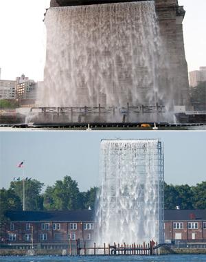 ニューヨークの港に巨大な滝のアート出現 New York City Waterfalls_b0007805_1103881.jpg
