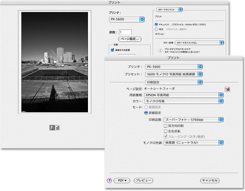 Lightroomから直接プリントする場合は、「モノクロ写真」ドライバは使えない。_f0077521_16393744.jpg