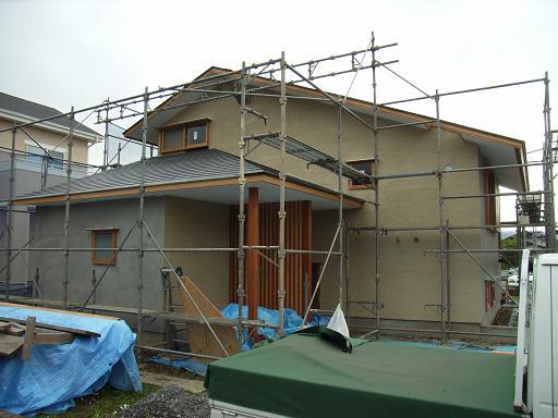 Nさんのいえ 外壁左官工事+家具工事 2008/7/10_a0039934_199228.jpg
