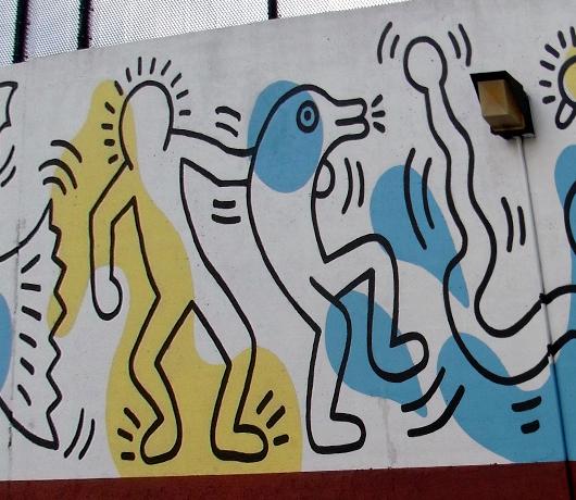 キース・へリングさんの壁画つき市民プール_b0007805_0432084.jpg