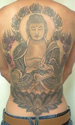 本日の刺青画像◆「釈迦如来」です。_b0072539_23431866.jpg