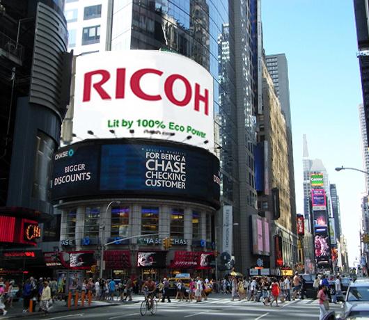 リコーの100%エコ看板、タイムズ・スクエアに登場予定_b0007805_12272621.jpg