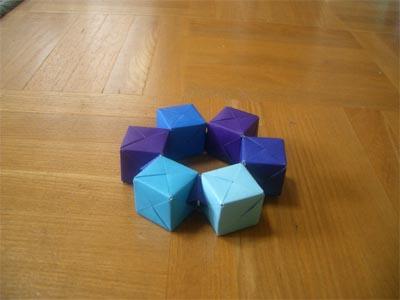 クリスマス 折り紙 折り紙 立方体 : mrtn.exblog.jp