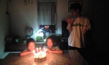 ♪手作りケーキ♪~双子のayaとreiの誕生日~_d0082356_8582998.jpg