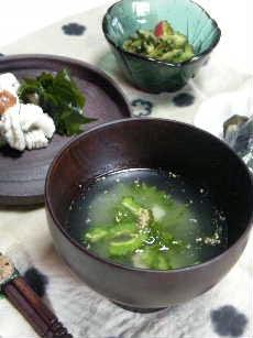 涼しい食卓  冷たいハモ吸い!?_e0086864_22555521.jpg