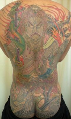 本日の刺青画像◆「不動明王」と「鳳凰」です。_b0072539_052997.jpg