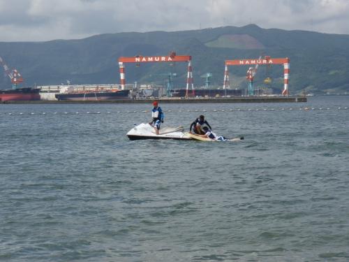 イマリンビーチ海開きと青バイ隊の展示訓練_a0077071_15273820.jpg