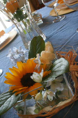 教室・・・オレンジムースケーキ&夏のフラワー_f0141419_5295939.jpg