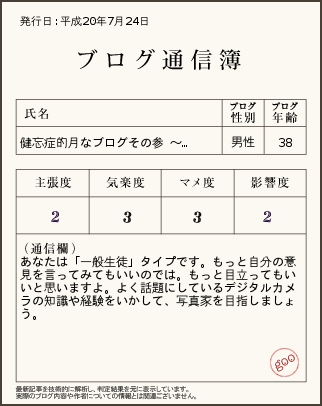 ブログ通信簿やってみました。_e0089232_064737.jpg
