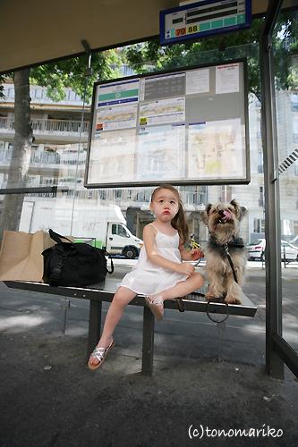 パリのバス停夏休み…_c0024345_0411576.jpg