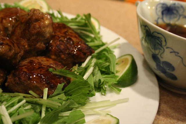 夏仕様の豆腐ハンバーグ_f0141419_6274178.jpg