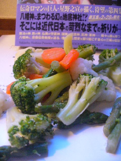 ■「宗像教授」に触発され「冷凍野菜を解凍せず」あてにするのが、夏酒アテの解答!_c0061686_5375192.jpg