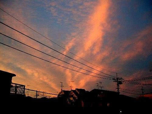 夕焼け空。_b0157216_21442028.jpg