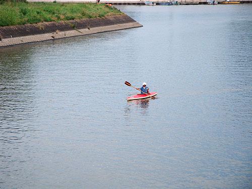 ついに利根川へ! (花見川カヌー探検 その3)_c0137404_1027398.jpg