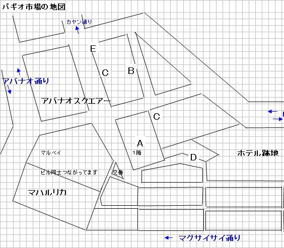 Baguio City Market バギオ市場の地図_a0109542_1143284.jpg