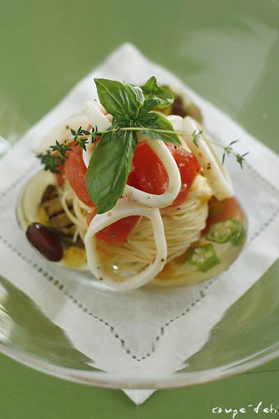 トマトといかの冷製パスタ_f0149855_23485569.jpg