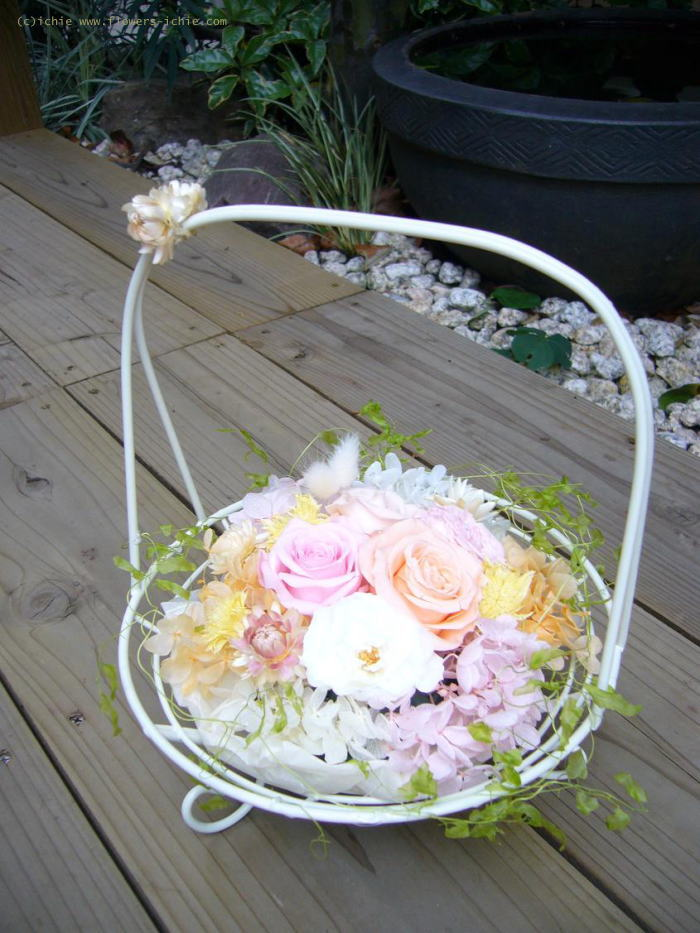 新郎新婦様からのメール  プリザの装花_a0042928_18191668.jpg