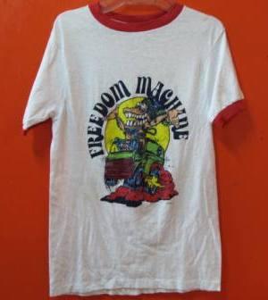70\'S 染み込みプリント FREEDAM MACHINE Tシャツ!_c0144020_1359489.jpg