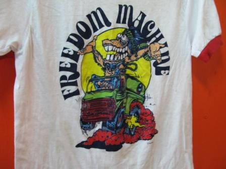 70\'S 染み込みプリント FREEDAM MACHINE Tシャツ!_c0144020_13595833.jpg