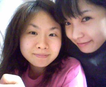 すっぴん二人~(笑)_e0114246_12371927.jpg