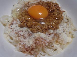 納豆チーズ釜卵うどん_c0025217_19394267.jpg