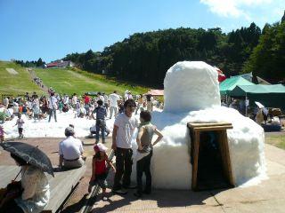 六甲山<人工>スキー場雪祭り_b0054727_14472161.jpg