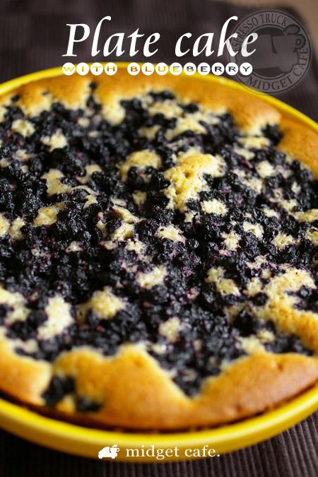 ブルーベリープレートケーキ【簡易レシピ付き】ゼリーの副産物も
