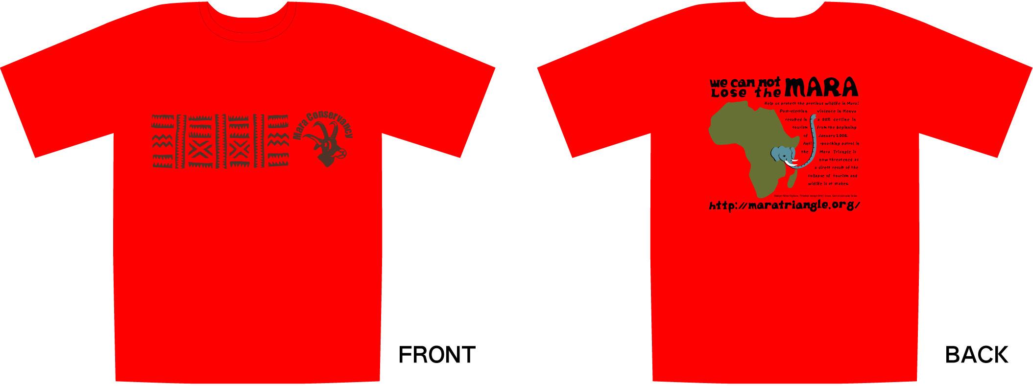 "\""WE CANNOT LOSE THE MARA"" Tシャツ\""販売_b0137038_19544125.jpg"