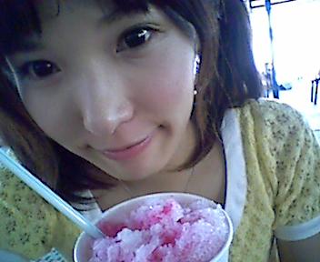 かき氷食べて元気注入~_e0114246_20301876.jpg