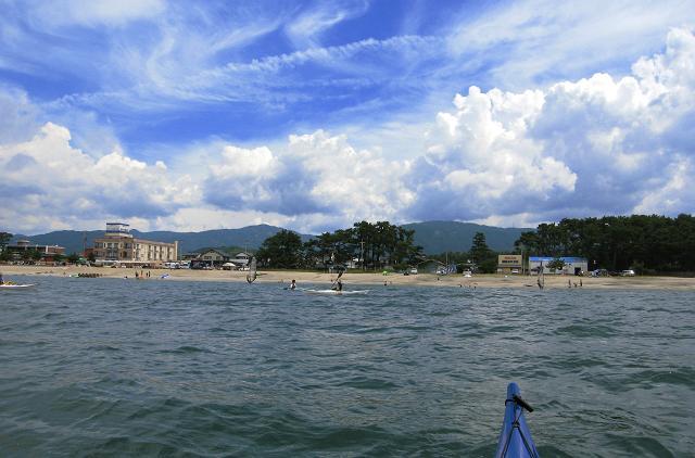 浜崎海岸でシーカヤック_a0080832_21554412.jpg