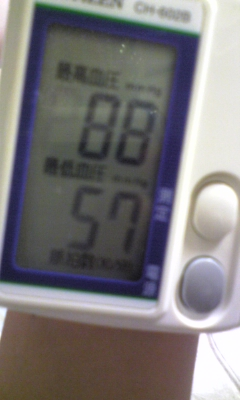 血圧計~低いなぁ_e0114246_21582133.jpg
