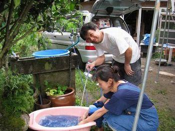 藍染め教室 & バーベキュー_a0043405_1144958.jpg