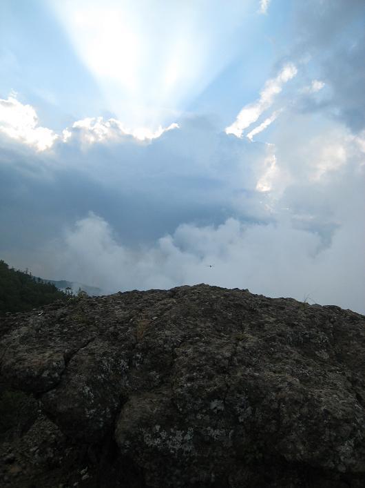 山の上の夕日          大河原峠近辺_a0107574_23202398.jpg