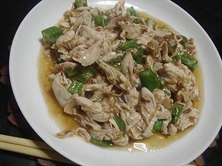 鶏ささみの梅肉ポン酢和え_c0025217_14583067.jpg