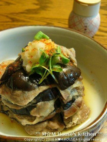 米なすと豚肉のミルフィーユ蒸し☆和香りレシピ♪_c0139375_16131264.jpg