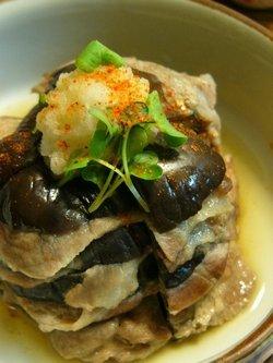 米なすと豚肉のミルフィーユ蒸し☆和香りレシピ♪_c0139375_16135241.jpg