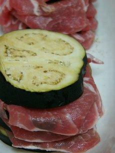 米なすと豚肉のミルフィーユ蒸し☆和香りレシピ♪_c0139375_16144192.jpg