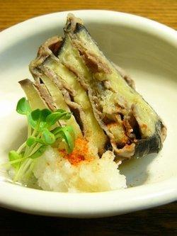 米なすと豚肉のミルフィーユ蒸し☆和香りレシピ♪_c0139375_1615251.jpg